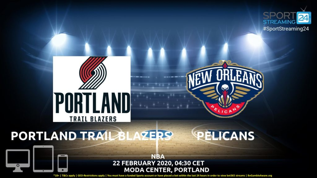 Thumbnail image for Blazers v New Olrleans Pelicans Live Stream | NBA