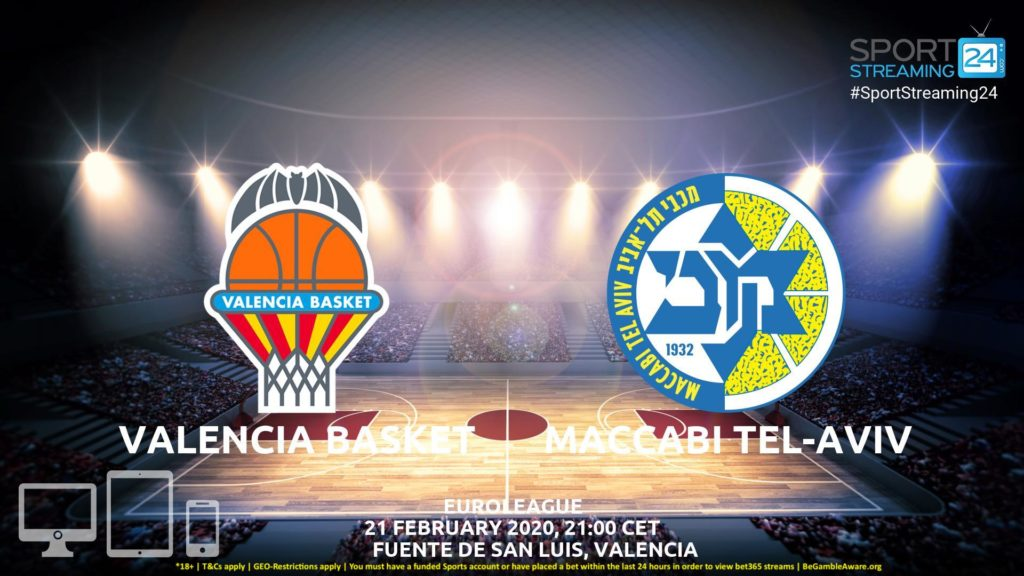 Thumbnail image for Valencia v Maccabi Tel-Aviv Live Stream | Euroleague