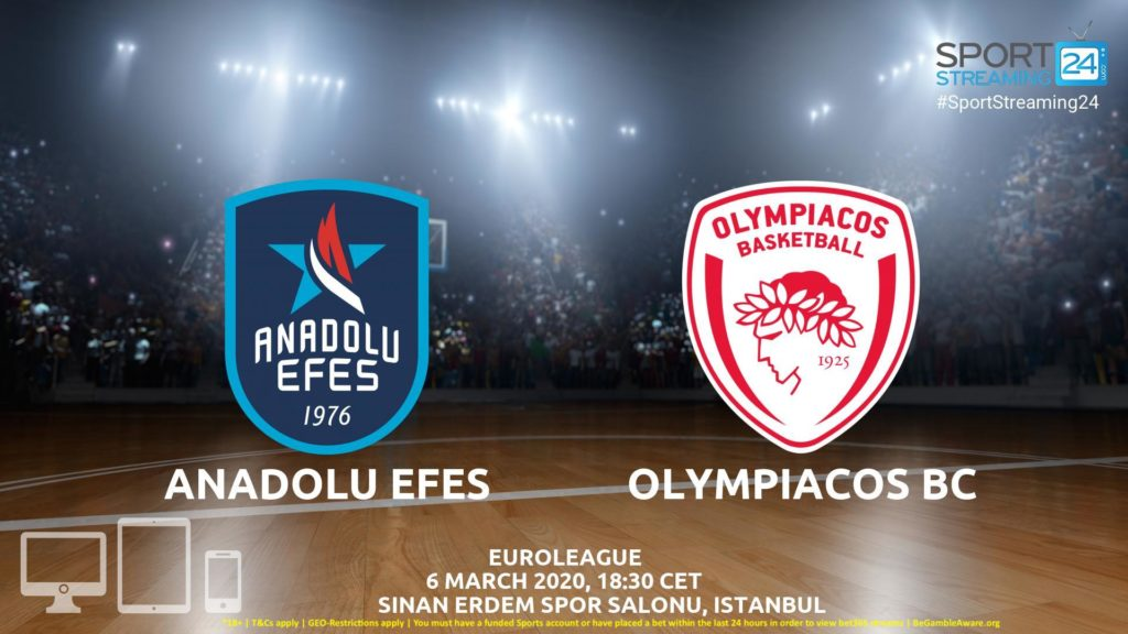 Thumbnail image for Anadolu Efes v Olympiacos Live Stream | Euroleague