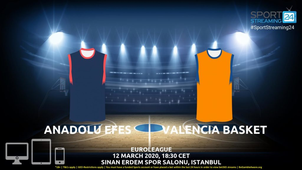 Thumbnail image for Anadolu Efes v Valencia Live Stream | Euroleague
