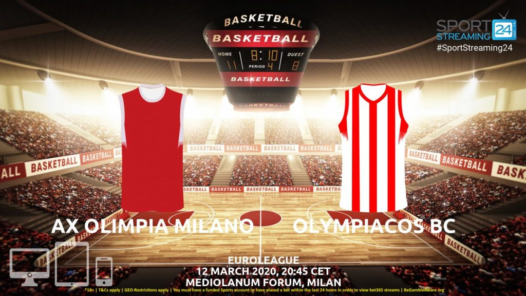 Thumbnail image for AX Olimpia Milano vs Olympiacos Live Stream | Euroleague