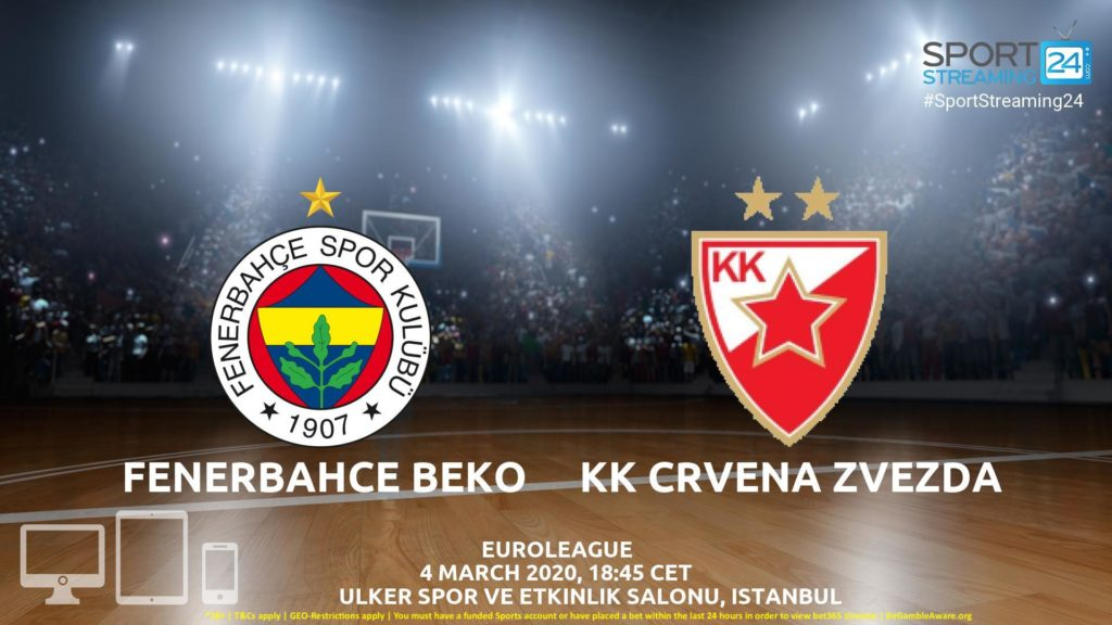 Thumbnail image for Fenerbahçe – Crvena Zvezda Live Stream | Euroleague