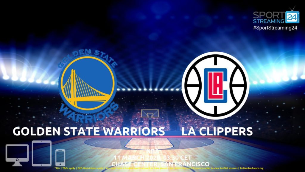 Thumbnail image for Golden State Warriors v LA Clippers Live Stream | NBA