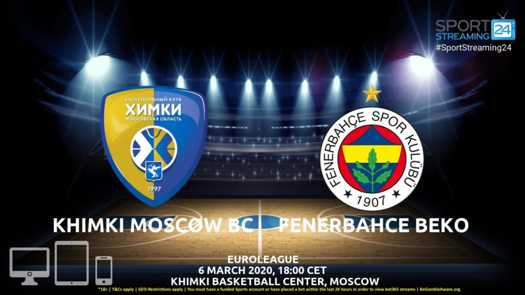 Thumbnail image for Khimki Moscow v Fenerbahce Live Stream | Euroleague