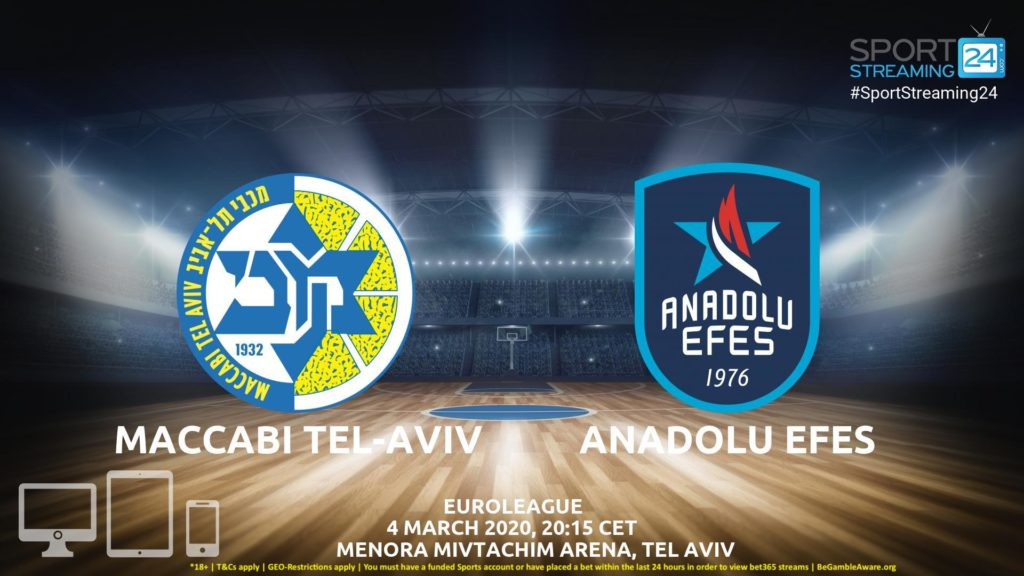 Thumbnail image for Maccabi Tel-Aviv v Anadolu Efes Live Stream | Euroleague