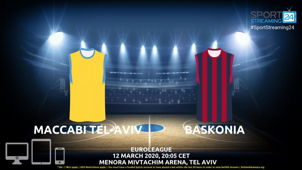 Thumbnail image for Maccabi Tel-Aviv v Baskonia Live Stream | Euroleague