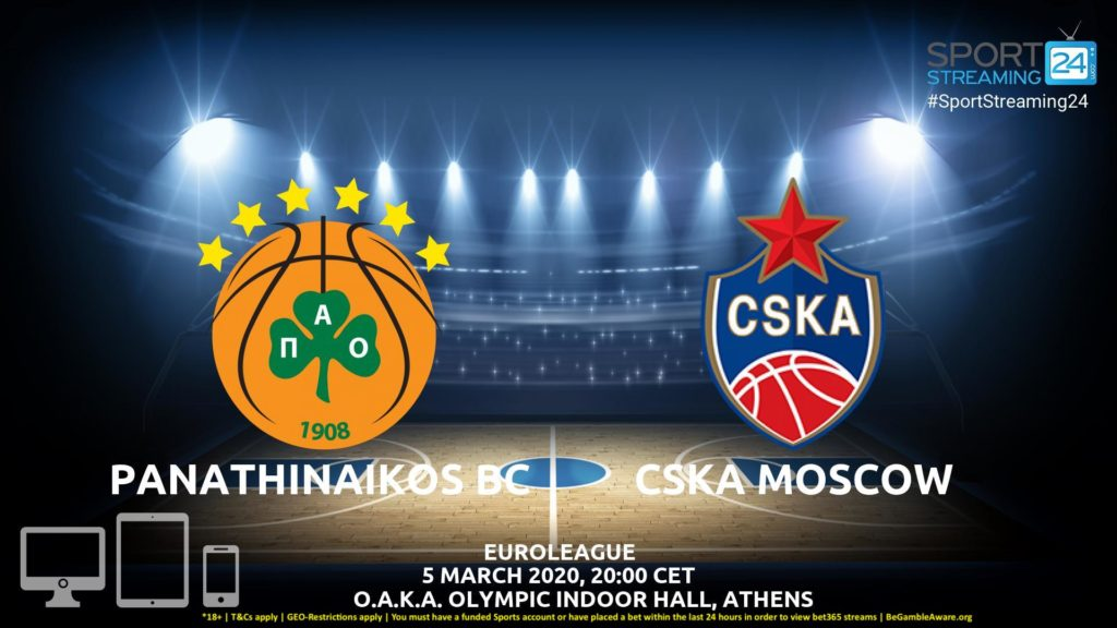 Thumbnail image for Panathinaikos v CSKA Moscow Live Stream | Euroleague