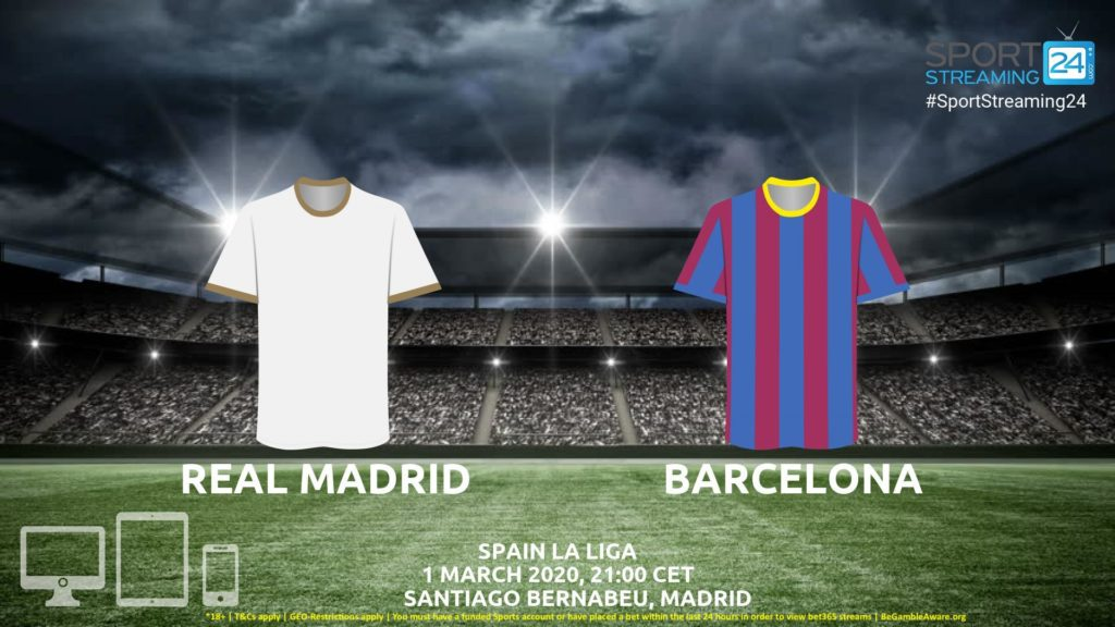 Thumbnail image for Real Madrid v Barcelona Live Stream* | La Liga Spain