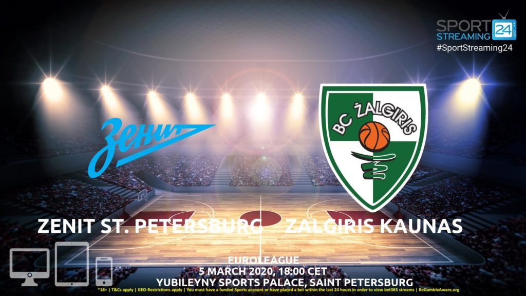 Thumbnail image for Zenit v Zalgiris Kaunas Live Stream | Euroleague