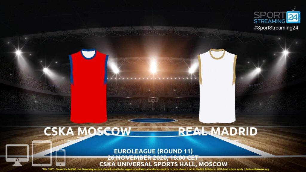 Thumbnail image for CSKA Moscow v Real Madrid Live Stream | Euroleague