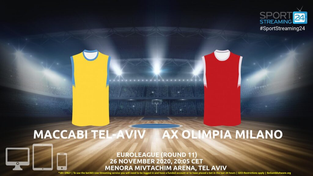 Thumbnail image for Maccabi Tel Aviv v Olimpia Milano Live Stream | Euroleague