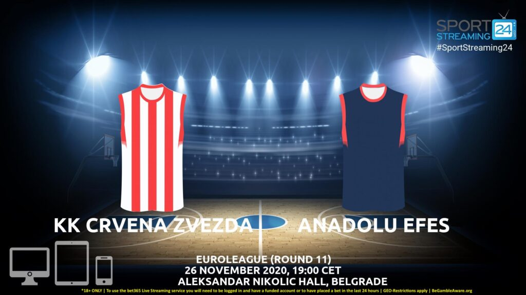 Thumbnail image for Crvena Zvezda v Anadolu Efes Live Stream | Euroleague