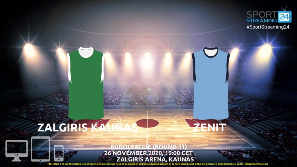 Thumbnail image for Zalgiris Kaunas v Zenit Live Stream | Euroleague