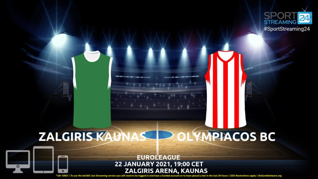 Thumbnail image for Zalgiris Kaunas v Olympiacos Live Stream | Euroleague