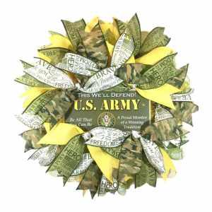 Army Door Wreath