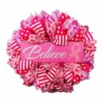 Breast Cancer Mesh Wreath