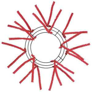 Red Wire Wreath Frame
