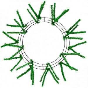 Metallic Green Wire Wreath Frame