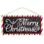 Black Merry Christmas Sign