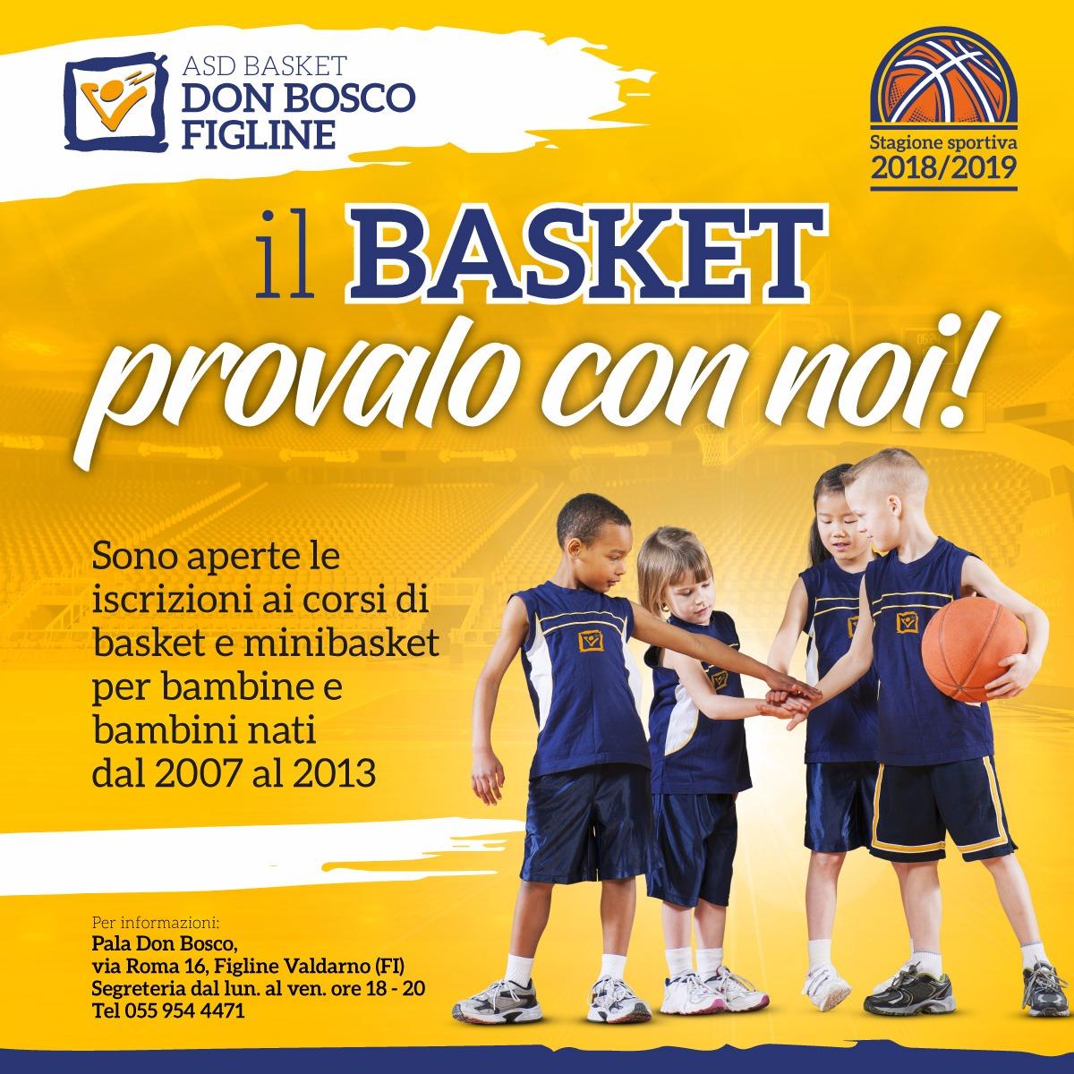 Asd Basket Don Bosco Iscrizioni Sfondo 2018 2019 Volantino