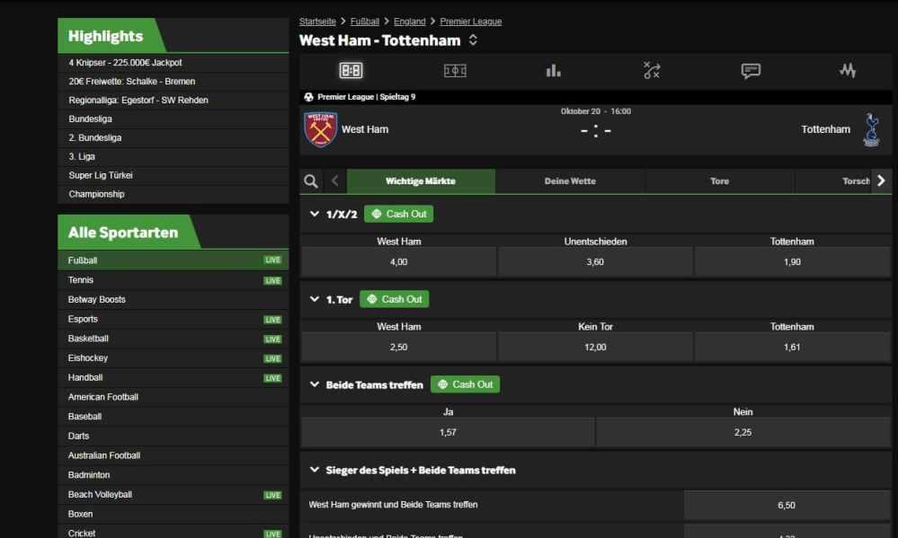 medium resolution of betway wettangebot live wetten test erfahrungen west ham spurs sportwetten quotenrechner live