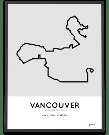 2014 Vancouver marathon course poster