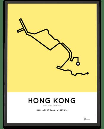 2016 Hong Kong marathon print