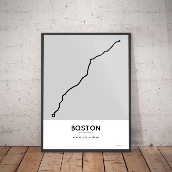 Boston marathon 2016 print