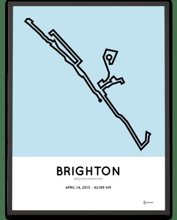 2013 Brighton marathon print