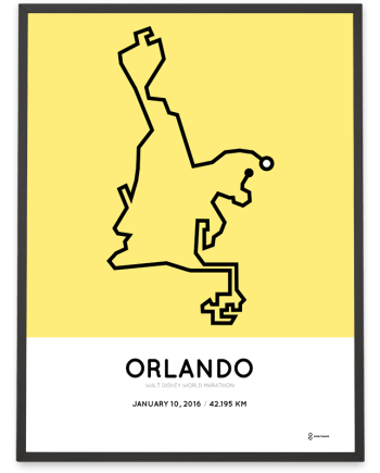 2016 Walt Disney World marathon course