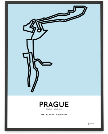 2016 Prague marathon course poster