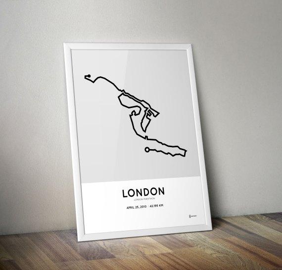 London marathon 2010 print