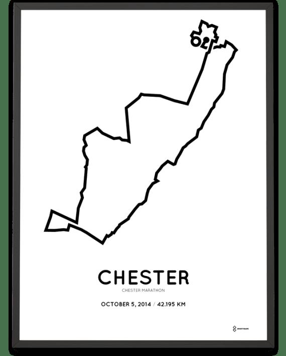 2014 Chester marathon course poster