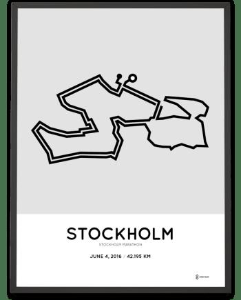 2016 Stockholm marathon course poster