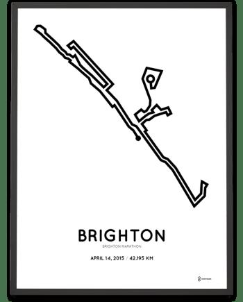 2015 Brighton marathon course poster