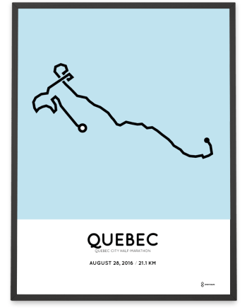 2016 Quebec City half-marathon course print