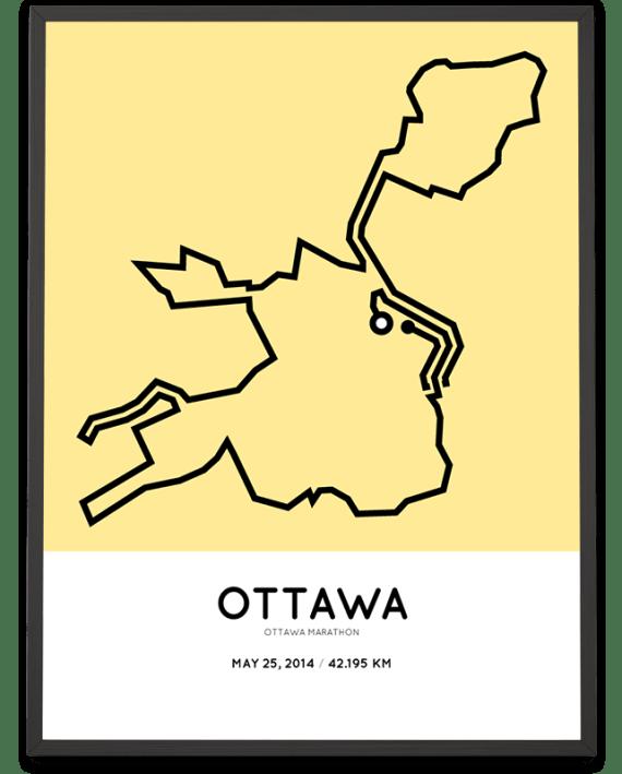 2014 Ottawa marathon course poster