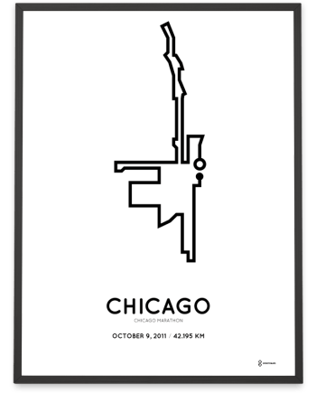 2011 chicago marathon course print