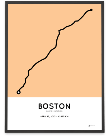 2013 boston marathon course poster