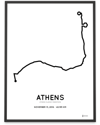 2016 Athens classic marathon course poster