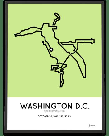 2016 Marine Corps marathon course poster