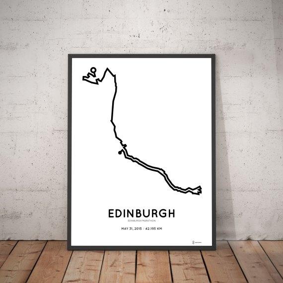 2015 edinburgh marathon course print