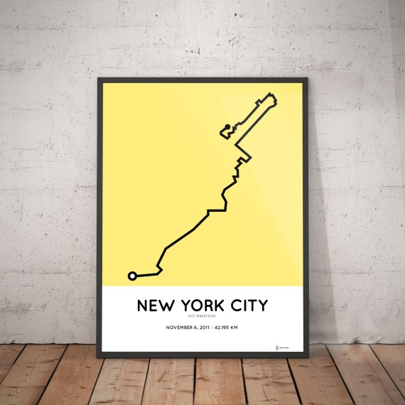 2011 New York City marathon route poster