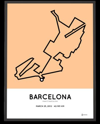 2012 barceolona marathon course poster
