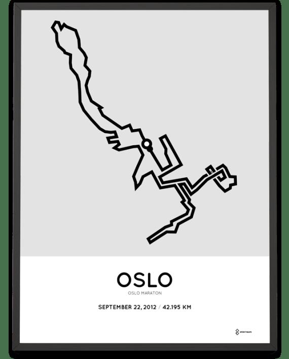 2012 oslo maraton course poster