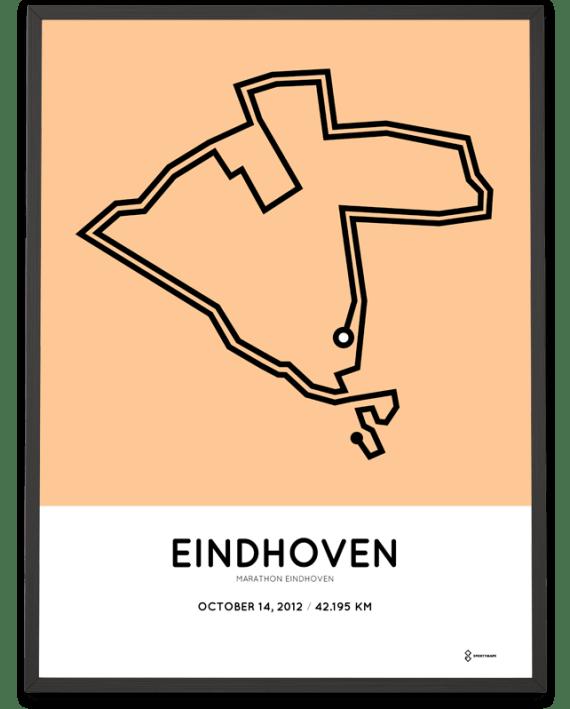 2012 Eindhoven marathon route poster
