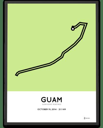 2014 Guam half marathon course print