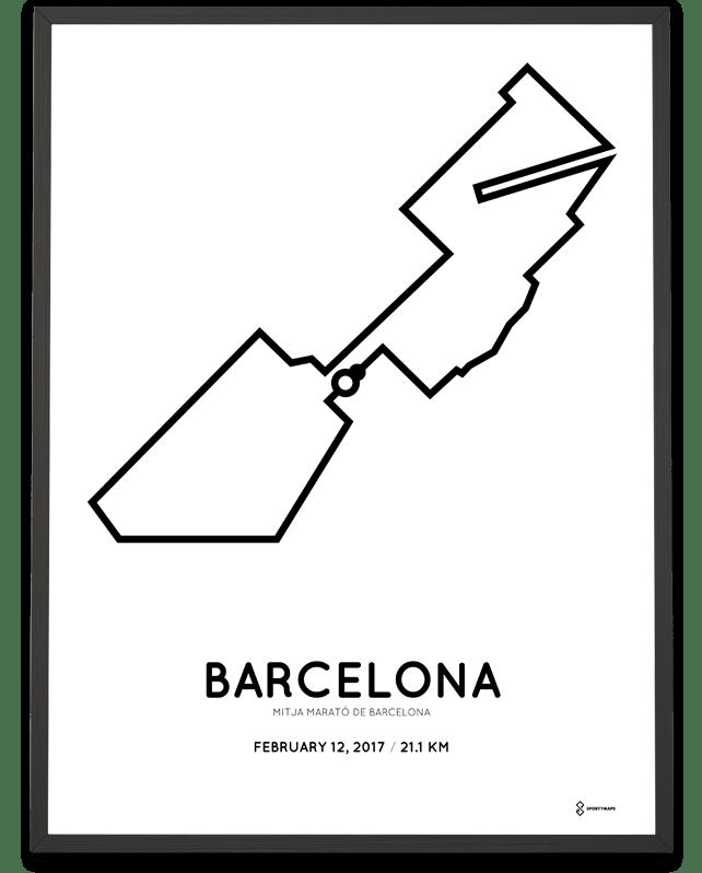 2017 Barcelona Half Marathon print