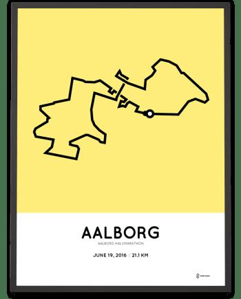 2016 Aalborg halvmarathon course print