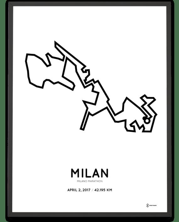 2017 Milano marathon route poster